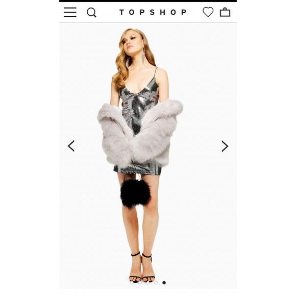 Topshop Dresses & Skirts - Topshop Silver Sequin Dress